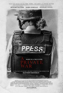 <i>A Private War</i> 2018 film directed by Matthew Heineman