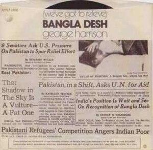 Bangla Desh (song) - Image: Bangla Desh (George Harrison single cover art)