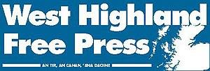 West Highland Free Press - Image: Banner blue