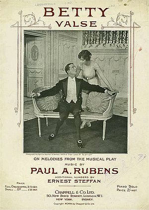 Paul Rubens (composer) - Sheet music from Betty