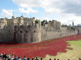 Blood Swept Lands and Seas of Red - Installation at the Tower of London