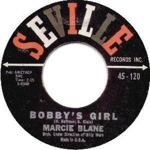 Bobby's Girl (song) - Image: Bobby's Girl Blane