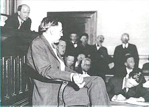 Dr. R.R. Bridges testifying in Decatur