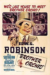 <i>Brother Orchid</i> 1940 film by Lloyd Bacon