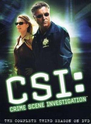CSI: Crime Scene Investigation (season 3) - Season 3 U.S. DVD cover
