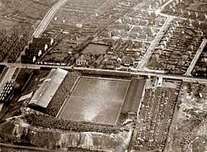 Elland Road - Elland Road before the West Stand Fire of 1956.