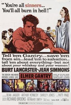 Elmer Gantry (film) - theatrical poster