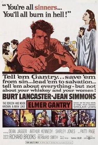 Elmer Gantry (film) - theatrical poster