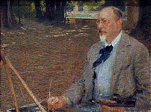 Ettore Roesler Franz - Portrait of Ettore Roesler Franz by Giacomo Balla, c. 1902, exhibited at the Biennale di Venezia of 1903