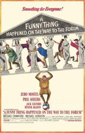 A Funny Thing Happened on the Way to the Forum (film) - theatrical release poster