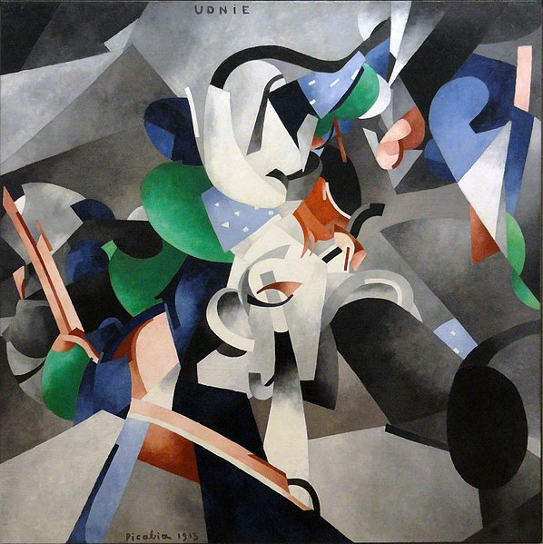 File:Francis Picabia, 1913, Udnie (Young American Girl, The Dance), oil on canvas, 290 x 300 cm, Musée National d'Art Moderne, Centre Georges Pompidou, Paris..jpg