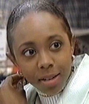 Sian Blake - Screenshot from a 1997 episode of EastEnders showing Blake in character as Frankie Pierre