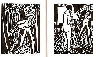 Frans Masereel - From Mon Livre d'Heures (A Passionate Journey, 1919)