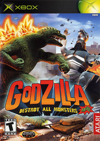 Godzilla: Destroy All Monsters Melee - North American Xbox cover art