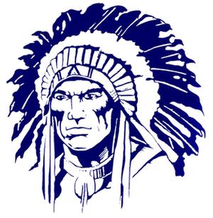Oconee County High School - Image: Goodbluewarriorhead
