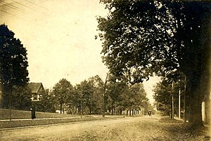Chester (village), New York - High Street looking towards Washingtonville, ca 1880.