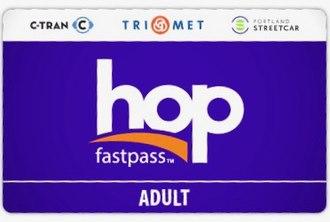 Hop Fastpass - The standard adult Hop Fastpass card