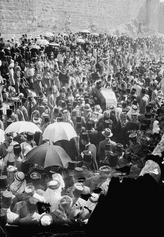 Hussein bin Ali, Sharif of Mecca - The funeral of King Hussein in Jerusalem, 1931.