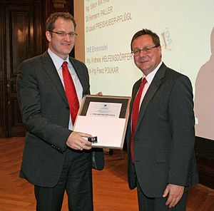 Josef Preishuber-Pflügl - Josef Preishuber-Pflügl  IEC 1906 Award ceremony November 2011
