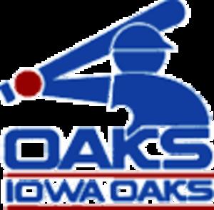 Iowa Cubs - Iowa Oaks logo from when team was a White Sox affiliate