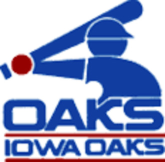 Iowa Cubs - Iowa Oaks logo from when team was a White Sox affiliate