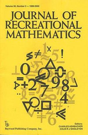 Journal of Recreational Mathematics - Image: Journal of Recreational Mathematics