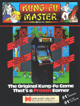 Kung-Fu Master (video game) - North American arcade flyer of Kung Fu Master