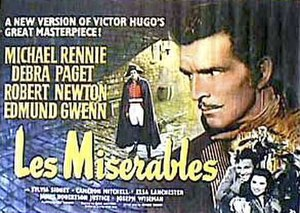 Les Misérables (1952 film) - Theatrical release poster