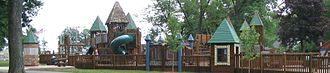 Nappanee, Indiana - Little Paws Playground in Stauffer Park.