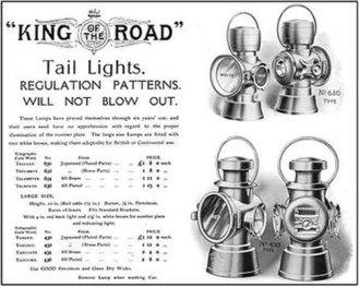 "Lucas Industries - Lucas ""King of the Road"" lamps"