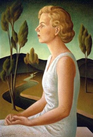 Helen Lundeberg - Helen Lundeberg, Portrait of Inez, 1933. Oil on celotex.