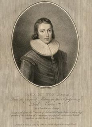 Early life of John Milton - John Milton at age 21 by William Gardiner