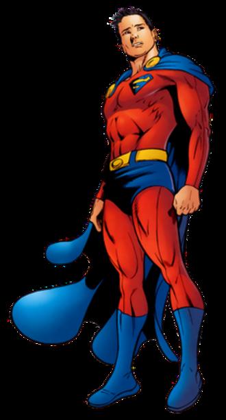 Lar Gand - Mon-El in his costume honoring Superman. Art by Jamal Igle.