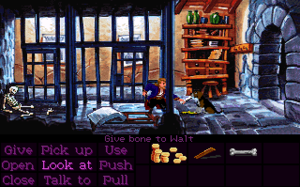 Monkey Island 2: LeChuck's Revenge - Monkey Island 2 gameplay screenshot of Phatt Island Jail