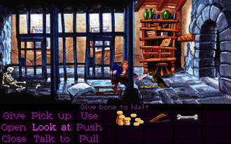 Monkey Island 2: LeChuck's Revenge - Monkey Island 2 gameplay screenshot of Phatt Island Jail