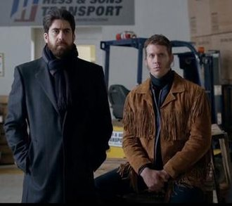 Mr. Wrench and Mr. Numbers - Mr. Numbers (Adam Goldberg, left) and Mr. Wrench (Russell Harvard)