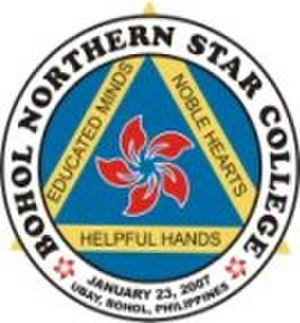Bohol Northern Star Colleges - Image: Official school logo of Bohol Northern Star Colleges in Ubay, Bohol, Philippines