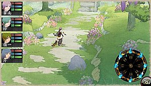 Oreshika: Tainted Bloodlines - In-game screenshot demonstrating the unique art style of the game.
