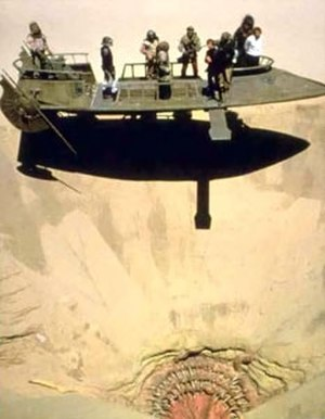 Sarlacc - The Great Pit of Carkoon with the original sarlacc from Return of the Jedi (1983)