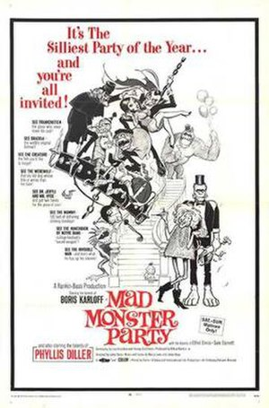 Mad Monster Party? - Film poster by Frank Frazetta