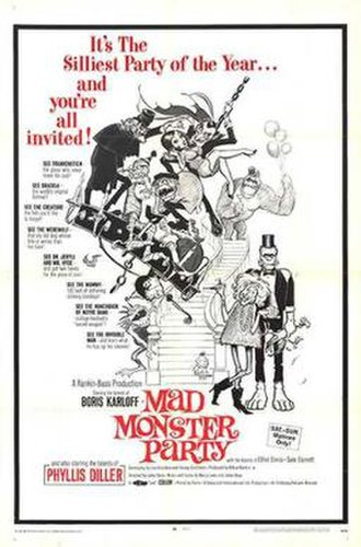 Mad Monster Party? - Theatrical release poster by Frank Frazetta