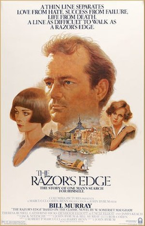 The Razor's Edge (1984 film) - Theatrical release poster by Tom Jung