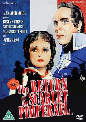 Return of the Scarlet Pimpernel - DVD cover