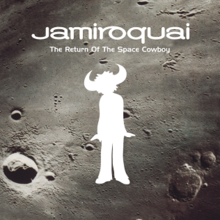 A white silhouette of a human male with buffalo horns, his head slightly tilts to the left. Above him is text of both the band name and album title. The background is a closeup of the moon.