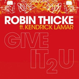 """Give It 2 U - Image: Robin Thicke """"Give It 2 U"""" (Single)"""