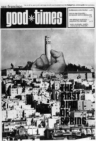 San Francisco Express Times - Cover of Good Times (April 9, 1971)
