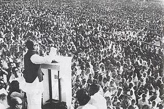 The speech given by Sheikh Mujibur Rahman
