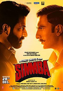 <i>Simmba</i> 2018 Indian Hindi film by Rohit Shetty