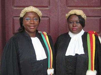 Sisters in Law (film) - State prosecutor Vera Ngassa, left, and Court President Beatrice Ntuba.
