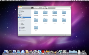Screenshot of Mac OS X Snow Leopard, released ...
